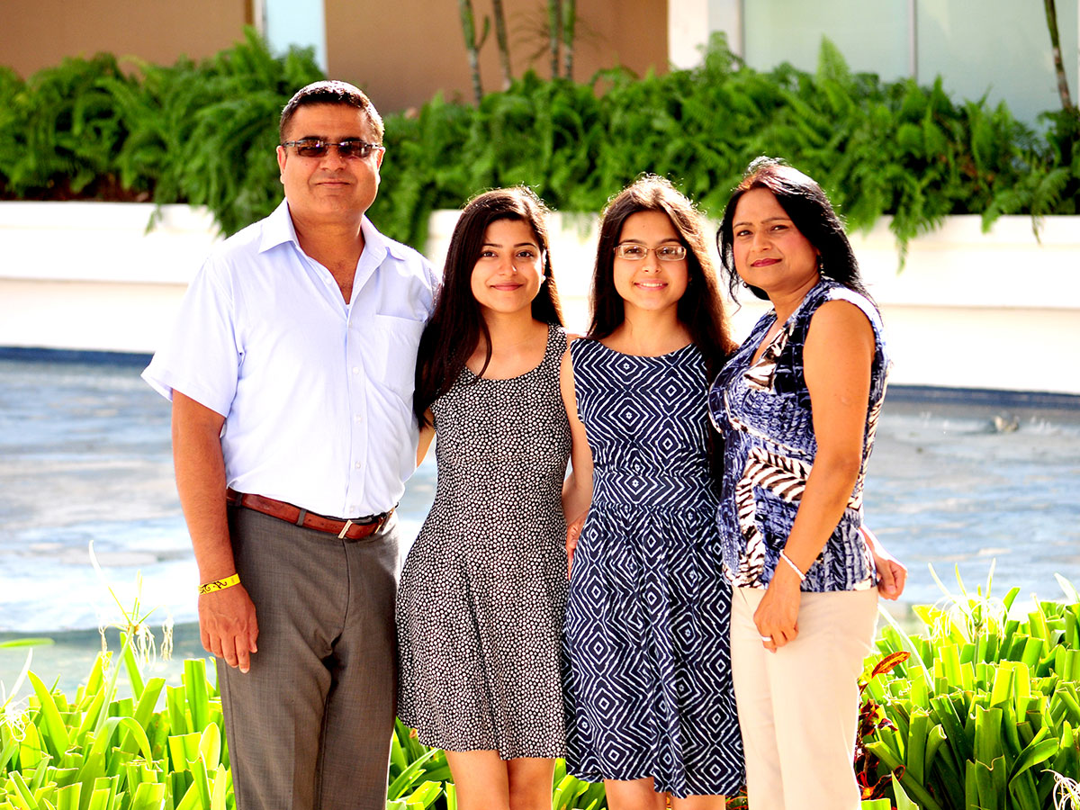 Sukhwant with family